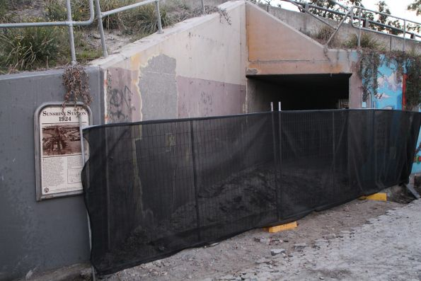 Reopening the pedestrian underpass at Sunshine station, to form part of the new Sunshine-Albion bike path