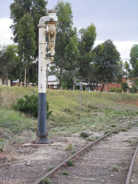 Water column in the Swan Hill goods shed siding