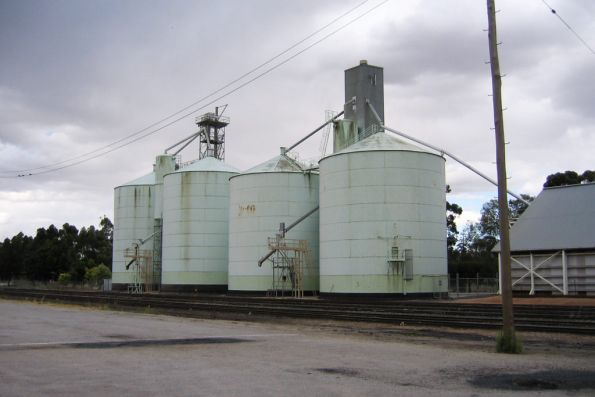 Pair of grain silos at Swan Hill