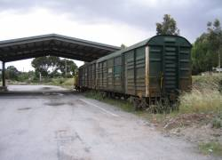 Freightgate shed with stabled RT and VLCX louvred vans