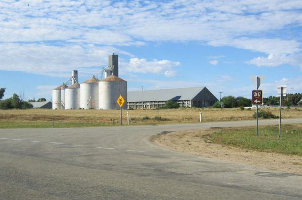 Grain silos at Lake Boga
