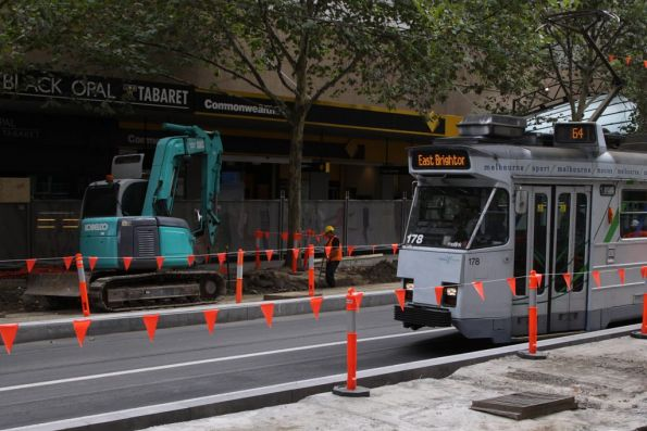 Wow! They're actually working on the Swanston Street platform stops!