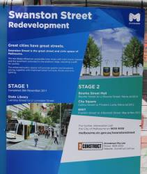 The City of Melbourne is incompetent: 5 months to rebuild two tram stops on Swanston Street?