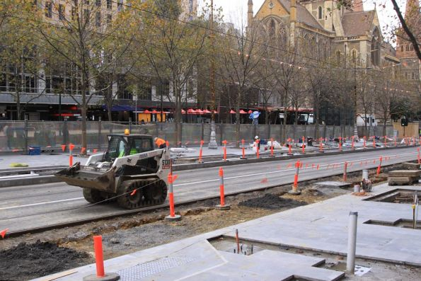 Progress in slow motion at the Swanston and Collins Street platform stop