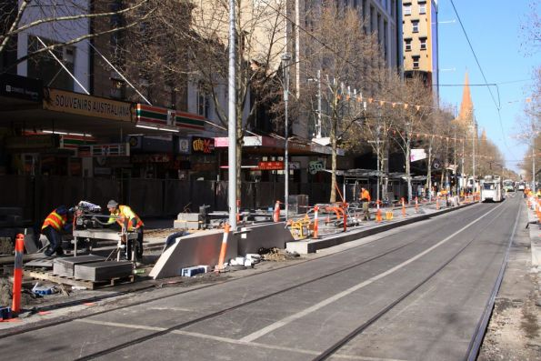 Hmmm, a few months after work started and this is starting to look like a tram stop