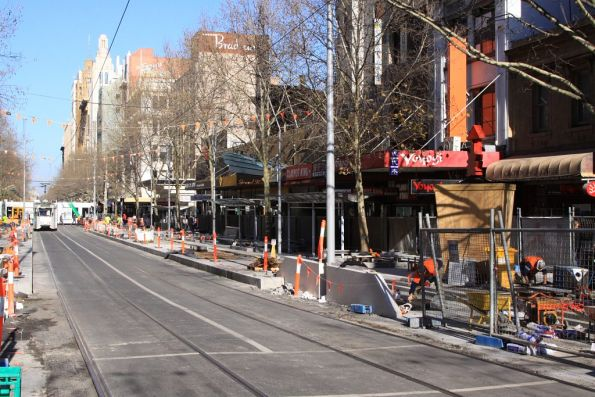 New platform stop starting to take shape at Bourke and Swanston Streets
