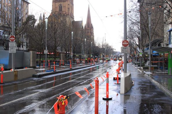 Swanston Street platform stop works *almost* complete at Collins Street