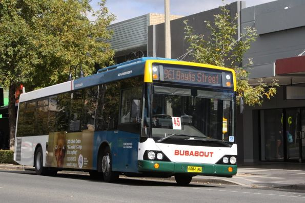 Busabout 6084MO on a route 961 town bus service in Wagga Wagga, NSW