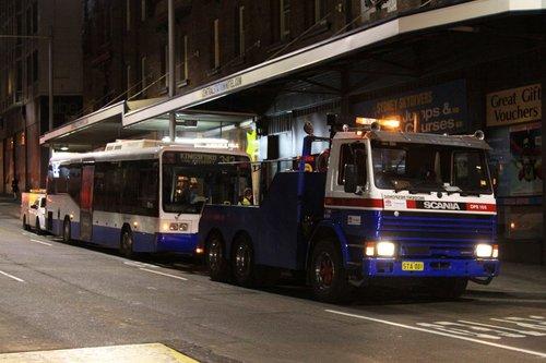 Broken down Sydney Buses #3752 Scania L113CRL / Ansair