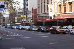 More buses clogging up George Street in the Sydney CBD