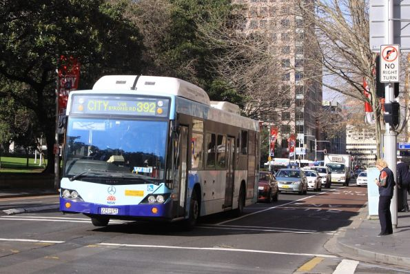 Sydney Buses #2291 Mercedes-Benz O500LE CNG / STA 1032D on Elizabeth Street in the CBD
