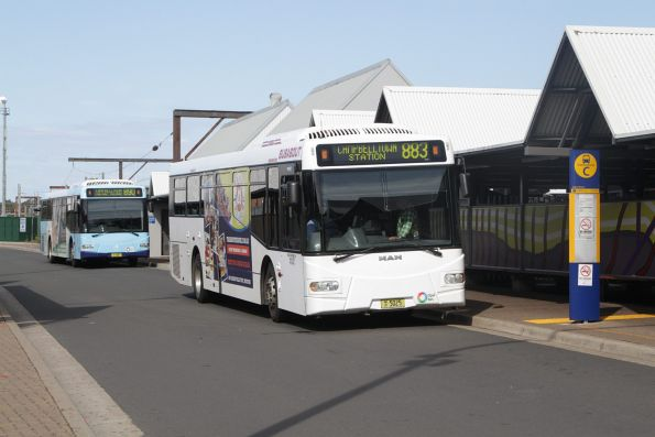 Busabout bus MO5025 on a route 883 service at Campbelltown station