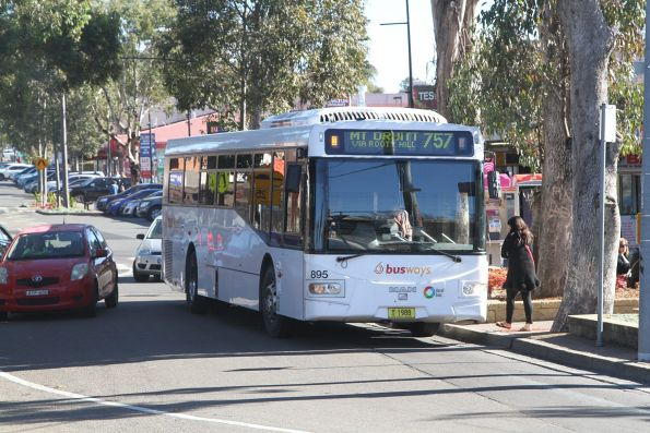 Busways bus #895 MO1988 on a route 757 service at Rooty Hill