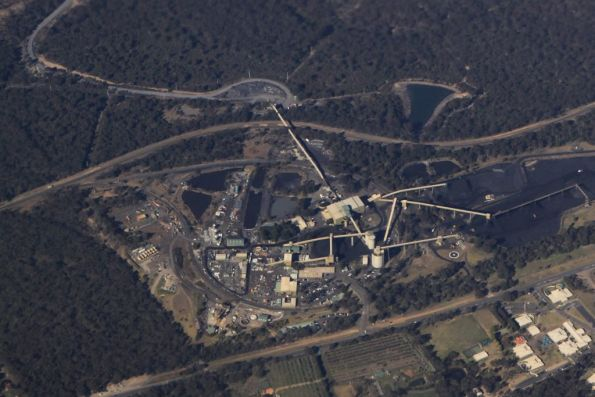 Looking down on the balloon loop at the Tahmoor Colliery in the Southern Highlands