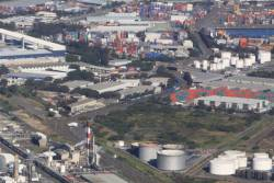 Looking down on the Port Botany freight yards from the west