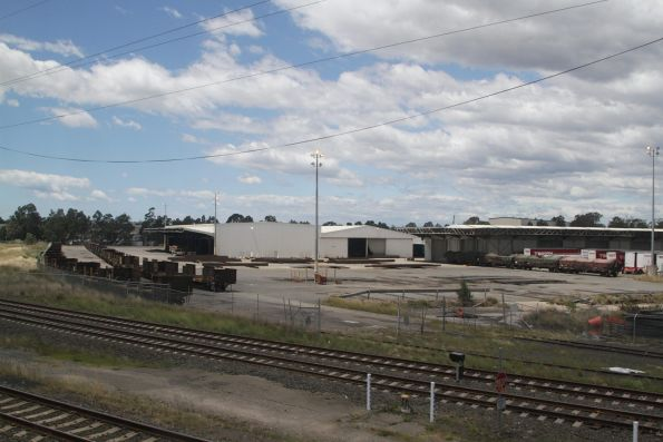 Steel wagons in the BHP siding at Leightonfield