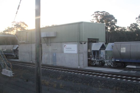 Unloading shed at Holcim siding in Rooty Hill