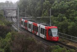 Urbos 3 tram 2123 heads for Dulwich Hill at Arlington