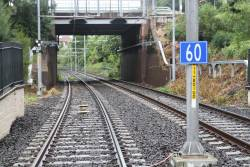 60 km/h speed limit for Dulwich Hill bound LRVs departing the Arlington stop