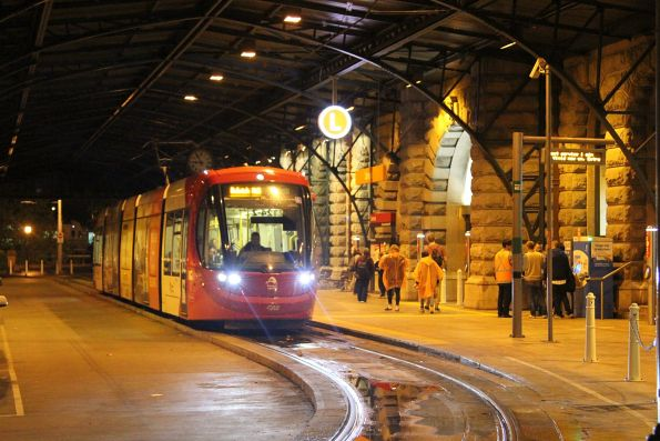 Urbos 3 tram 2124 ready to depart Central Station