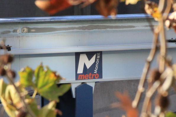 'Metro Monorail' branding on the monorail beam