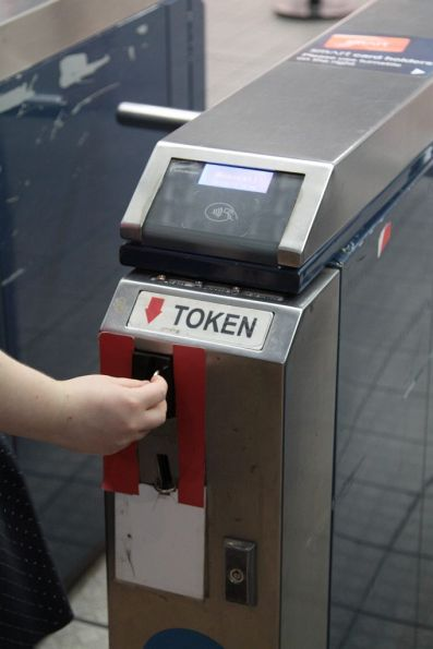 Turns out the Sydney Monorail is still using tokens for single journeys