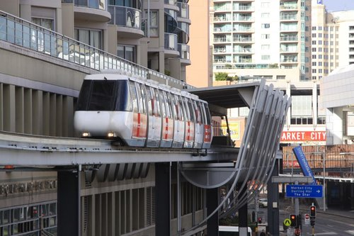 Monorail departs Chinatown station