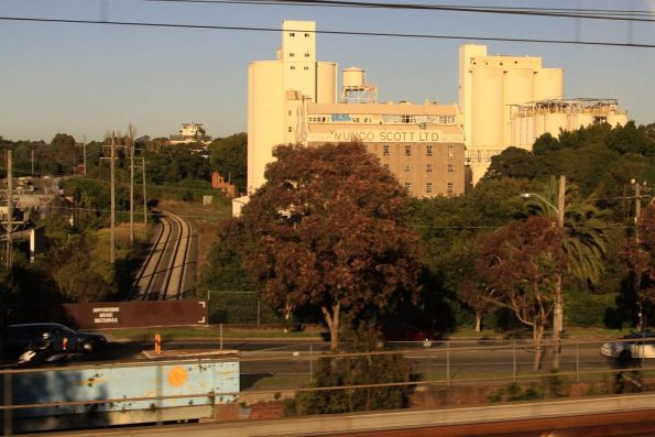 Mungo Scott flour mill on the Rozelle goods line