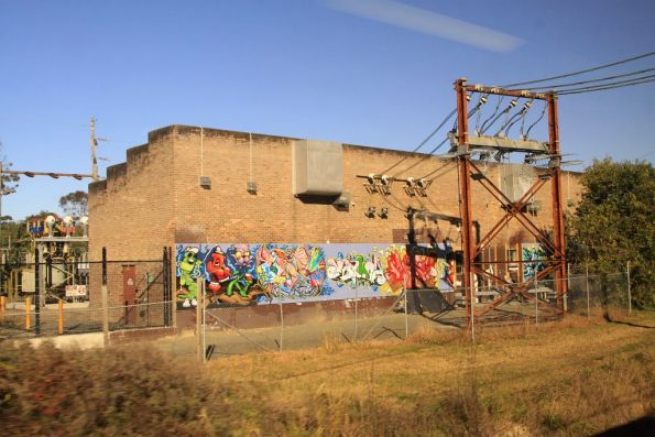 Blaxland traction substation on the Blue Mountains line