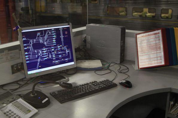 Multiple sources of information for platform staff at Central Station