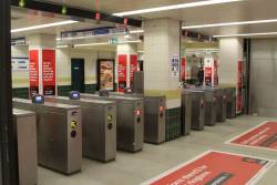 Ticket barriers for the northern suburban concourse at Central Station