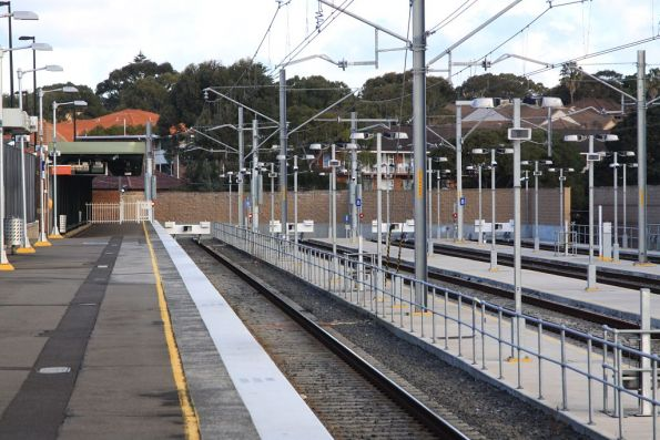 Down end of platform 2 at Cronulla, along with the stabling yard