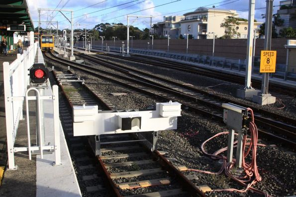 Buffer stops at the end of Cronulla platform 1