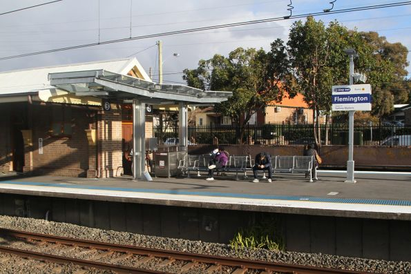 Tiny stub of modern roofing at Flemington station platform 3 and 4