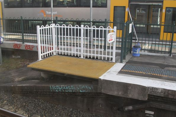 Short platform extension at Homebush platform 5