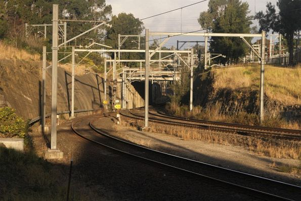 Goods lines peel away from the Olympic Park line at Lidcombe Goods Junction