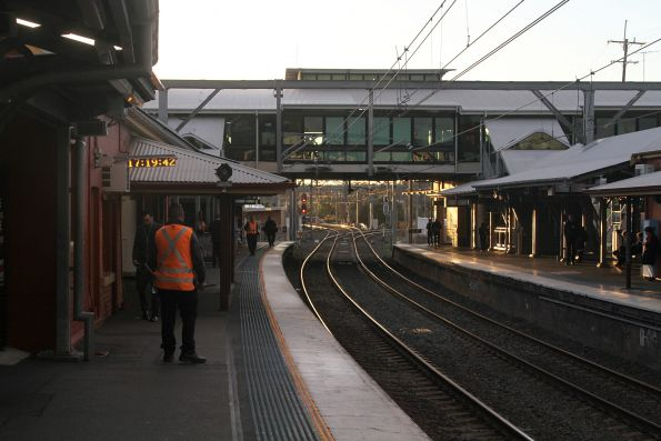 Overhead concourse at the down end of Lidcombe station