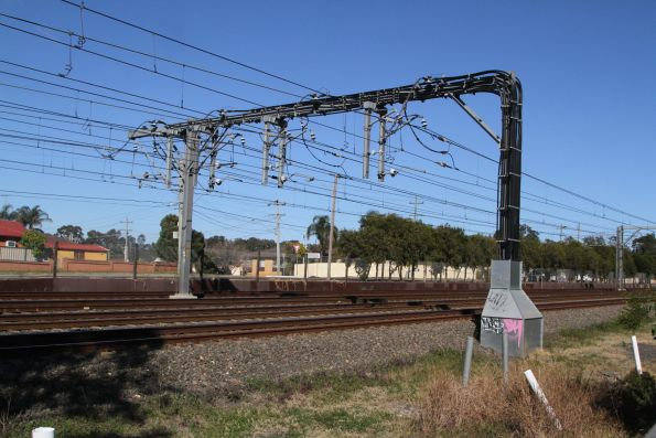 Traction power feeders at the Rooty Hill traction substation
