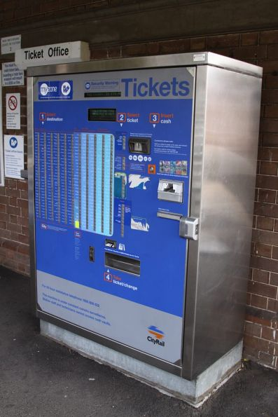 More buttons than a nuclear power station - a CityRail ticket vending machine