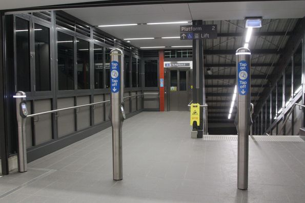 Opal card readers at Marrickville station