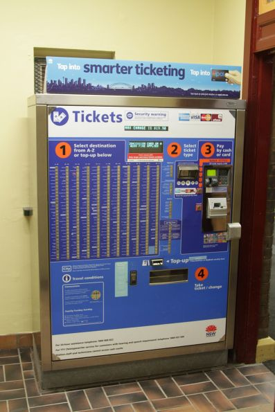 Older style ticket machine - only single and return tickets are still available