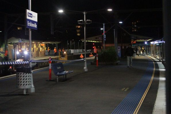 Trackwork on the main Illawarra lines at Erskineville