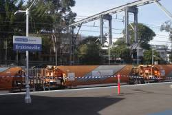 Ballast train at Erskineville station