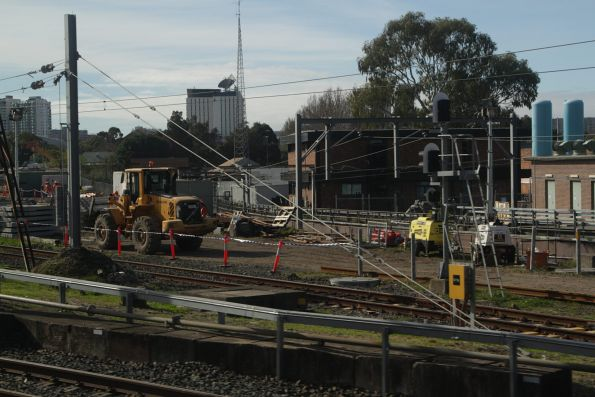 Trackwork at the portal of the Eastern Suburbs Railway at Erskineville