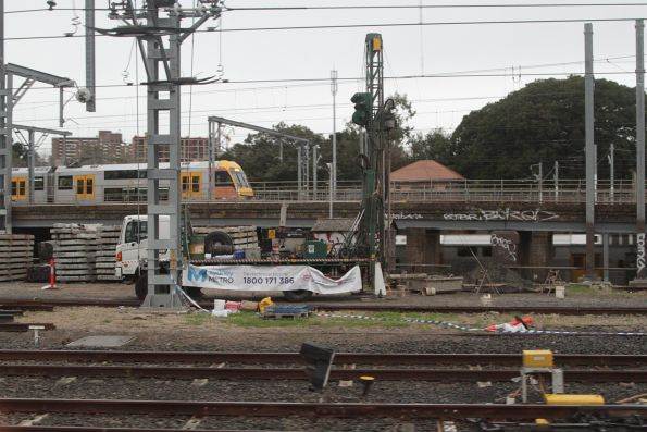 Sydney Metro geotechnical investigation works in Sydney Yard