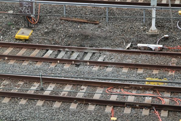 Mud hole in the mainline tracks leading to Sydney Terminal