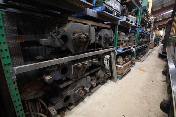 Spare traction motors in storage