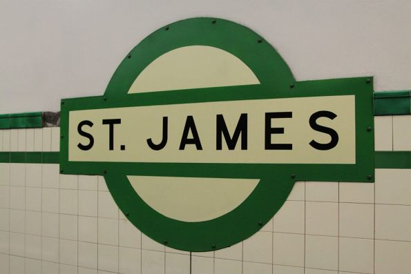 Roundel at St James station