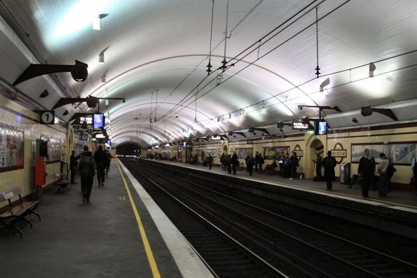 Platform level at Museum station