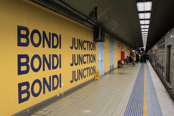 Platform level at Bondi Junction station
